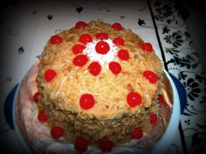 My homemade German Chocolate Cake! Yum!